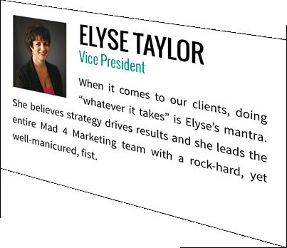 Elyse Taylor, Vice President