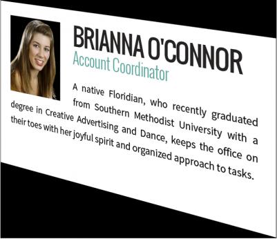 Brianna O'Connor, Account Coordinator