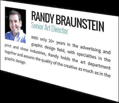 Randy Braunstein, Senior Art Director